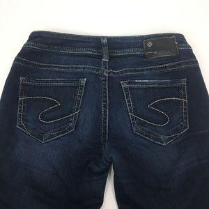 Silver Jeans Cropped Aiko kick flare Sz 27